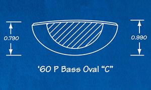 60 P-Bass Oval C
